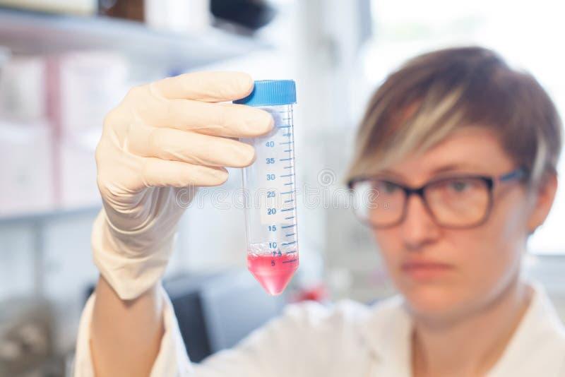 Virusmolecules in laboratorium stock fotografie