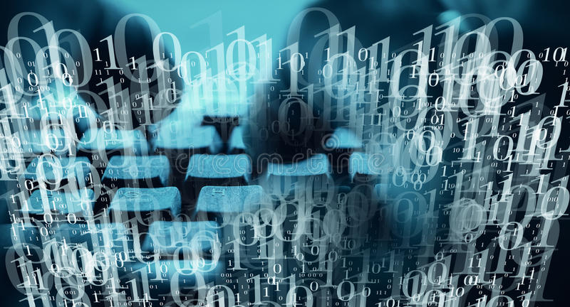 Virusransomware anfaller världsomspännande datorer royaltyfri illustrationer