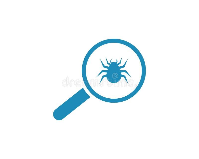 Virusscan-Schablone lizenzfreie abbildung