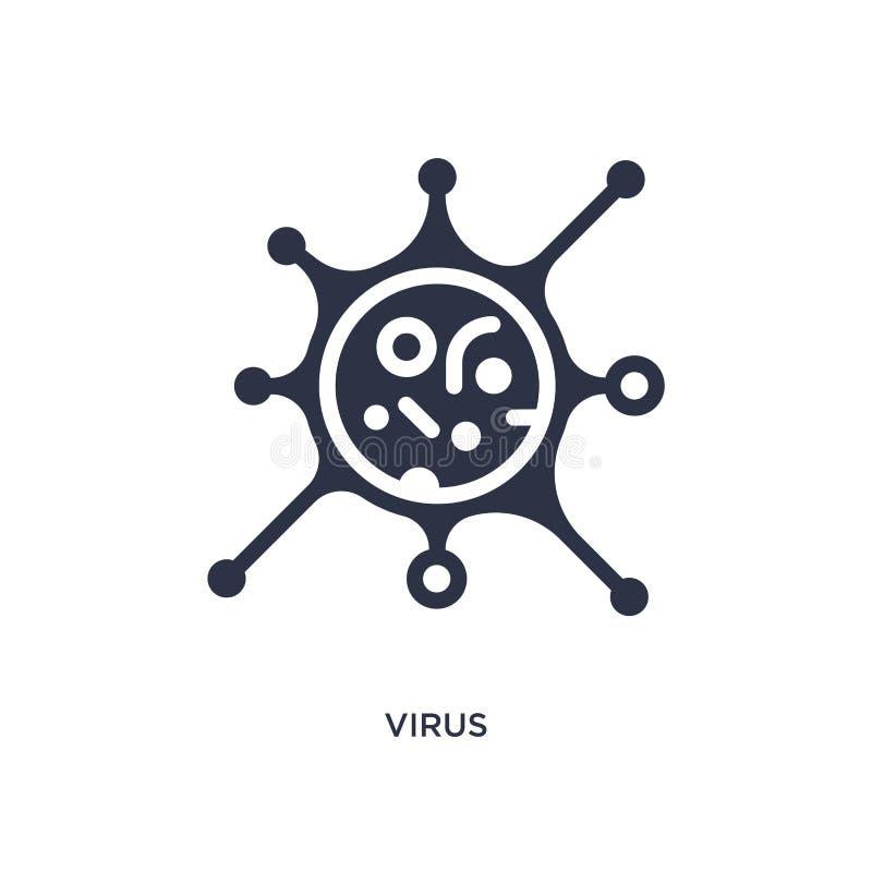 Virussymbol på vit bakgrund Enkel beståndsdelillustration från utbildningsbegrepp vektor illustrationer