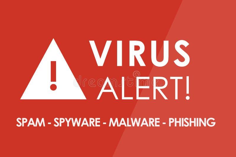 Virusvarning vektor illustrationer