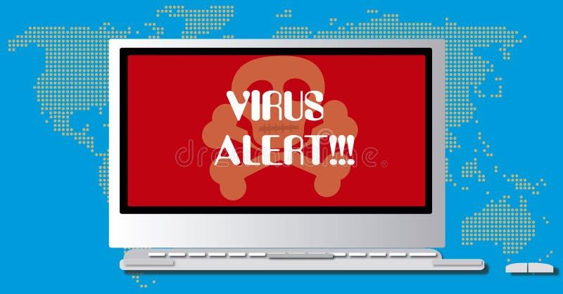 Virusvarning royaltyfri illustrationer