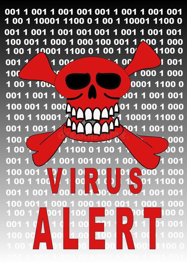 Viruswarnung lizenzfreie abbildung