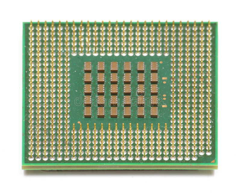 Viruta de la CPU del ordenador imágenes de archivo libres de regalías