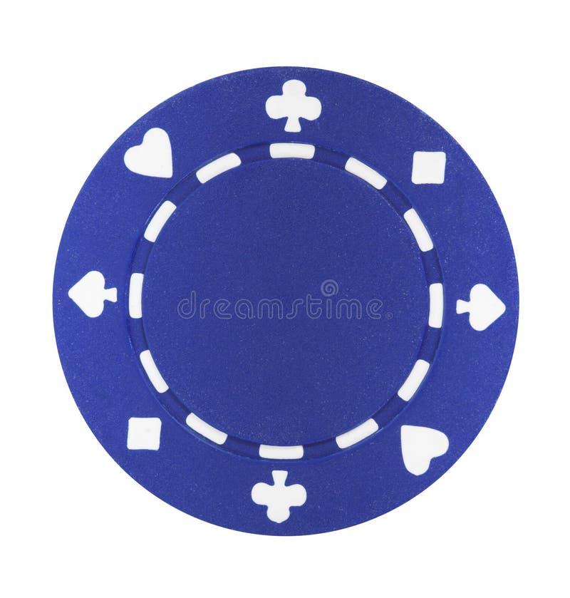 Viruta de póker azul fotos de archivo