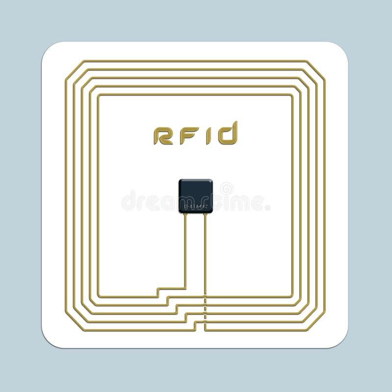 Viruta de RFID ilustración del vector