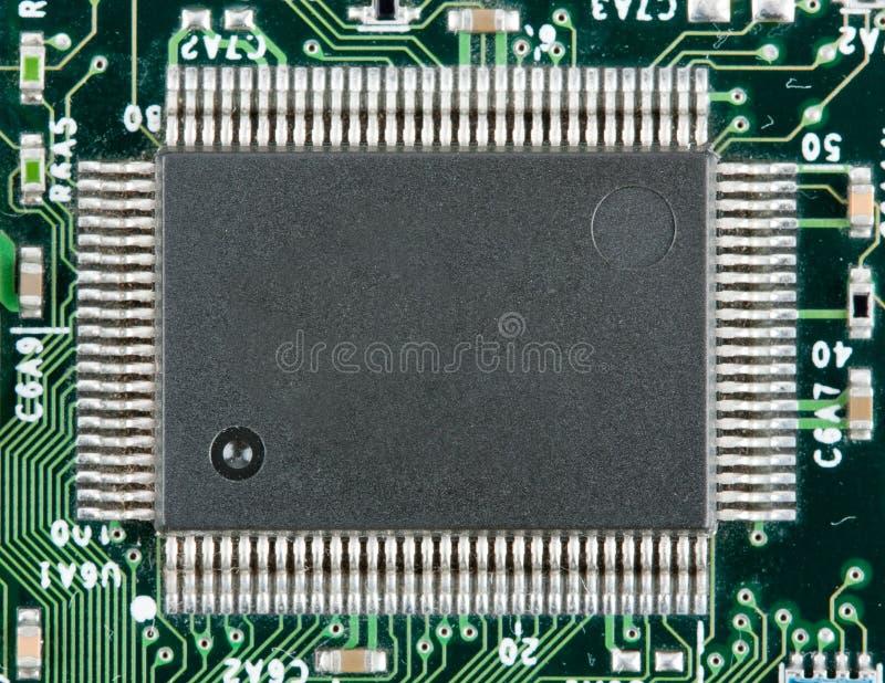 Viruta electrónica del ordenador fotografía de archivo