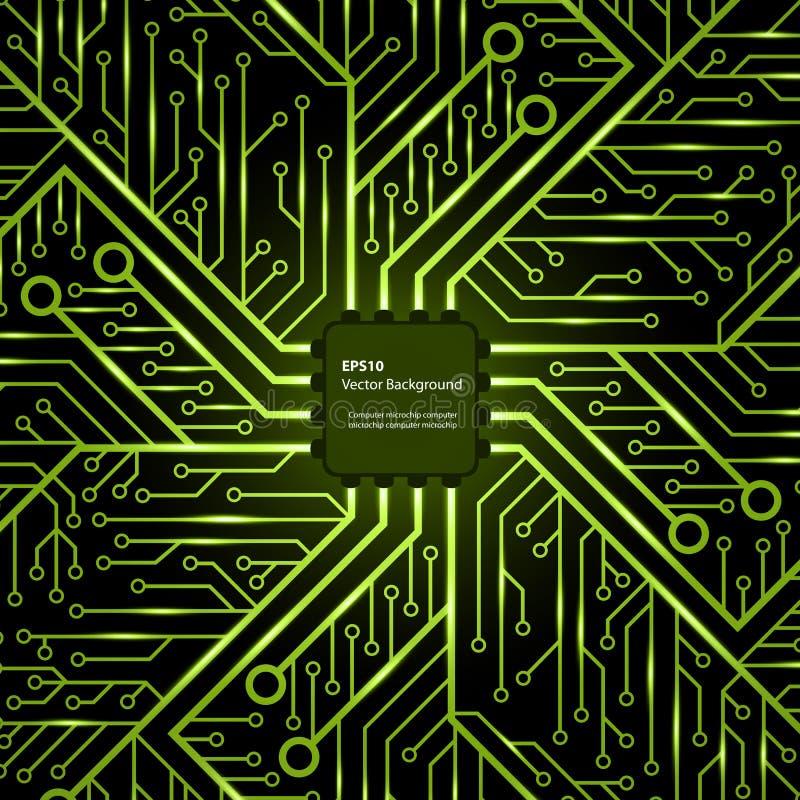 Viruta electrónica Fondo del vector ilustración del vector