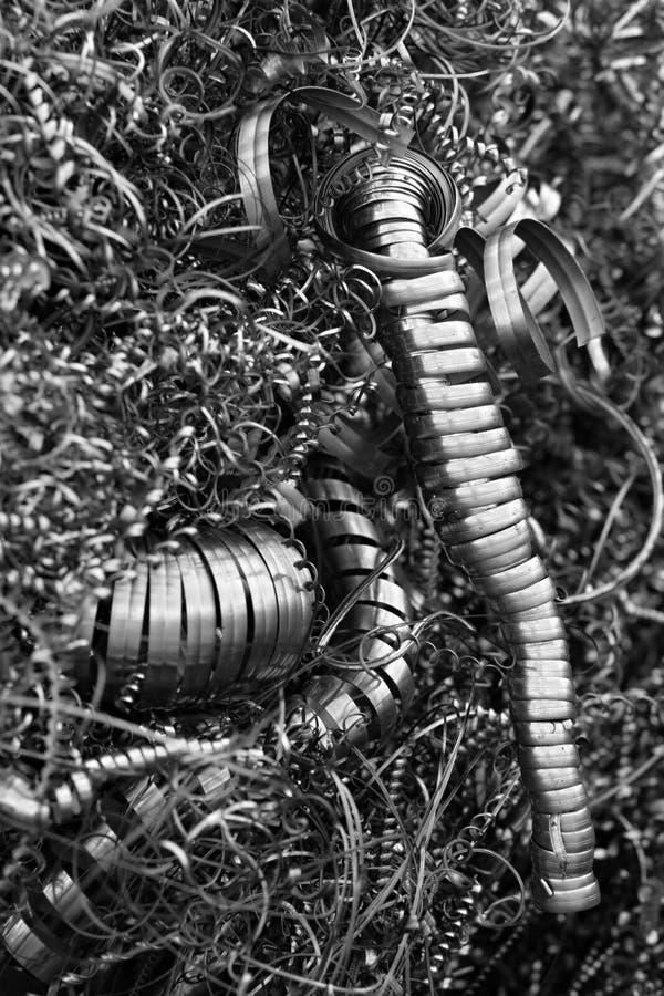 Virutas de acero del CNC imagen de archivo