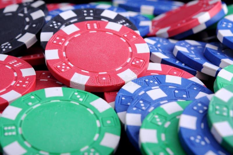 Virutas de Gabling del póker foto de archivo