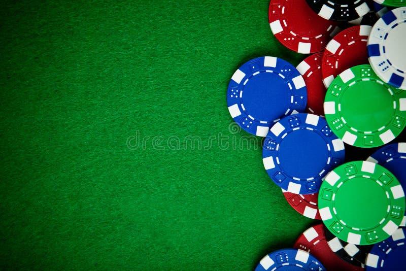 Virutas de juego del casino imagen de archivo libre de regalías