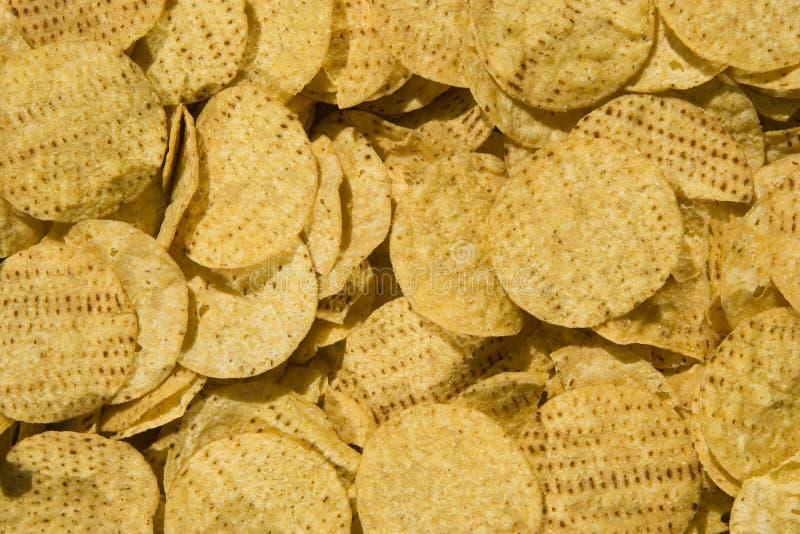 Virutas de maíz amarillas imagenes de archivo