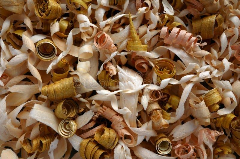 Virutas de madera imagen de archivo libre de regalías