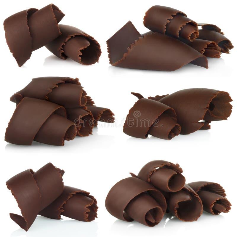 Virutas del chocolate fijadas ilustración del vector