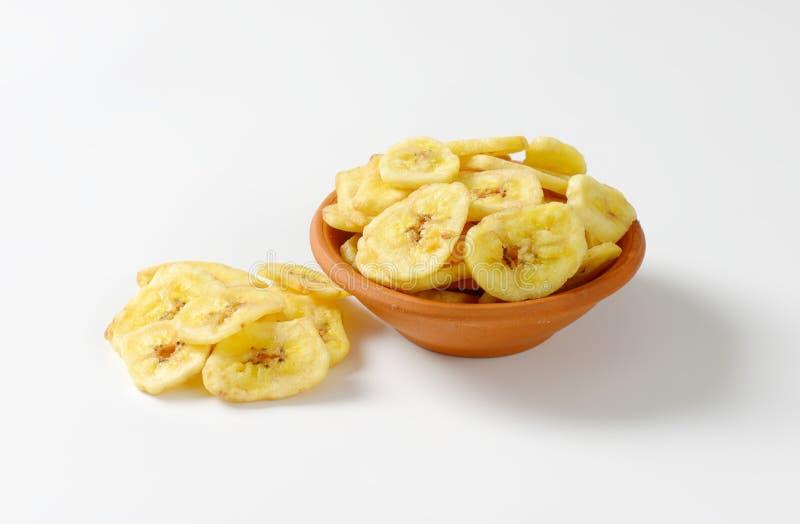 Virutas secadas del plátano foto de archivo libre de regalías