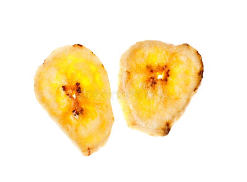 Virutas secadas del plátano fotografía de archivo libre de regalías