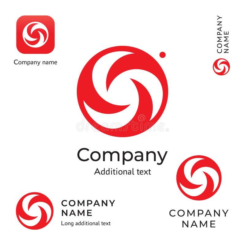 Virvel idérika Logo Modern och stilfull mall för uppsättning för affärsidé för symbol för symbol för skönhetidentitetsmärke royaltyfri illustrationer
