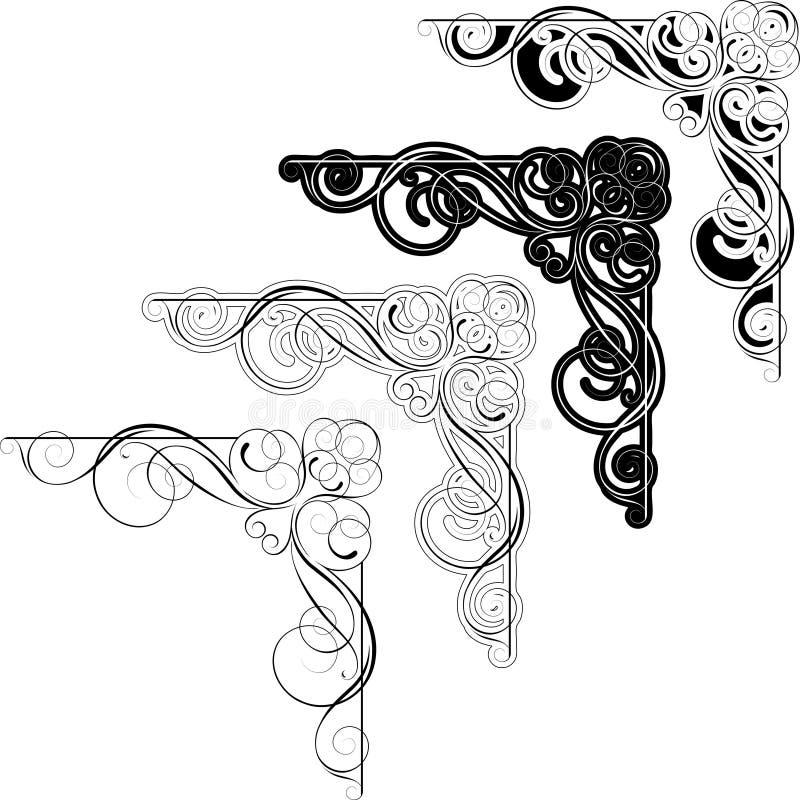 Virvelabstrakt begrepphörn royaltyfri illustrationer