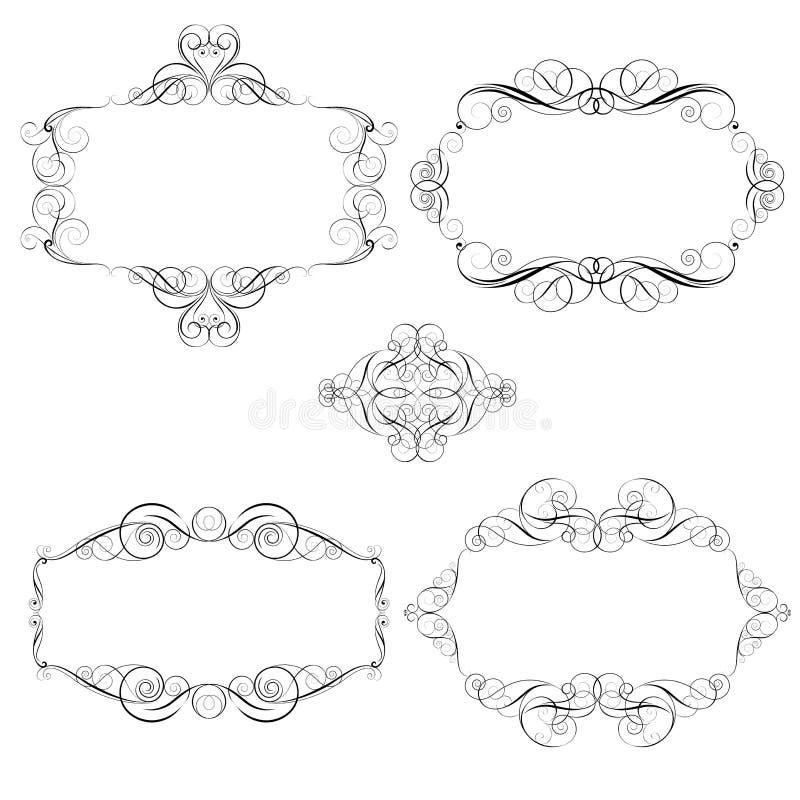 Virvelram royaltyfri illustrationer