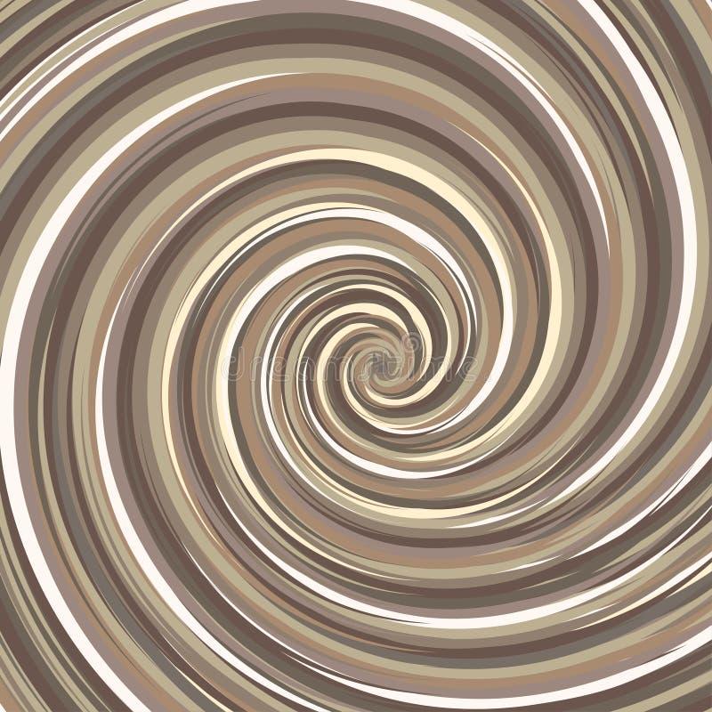 Virvlande runt bakgrund Spiral yttersidamutterfärg royaltyfri illustrationer