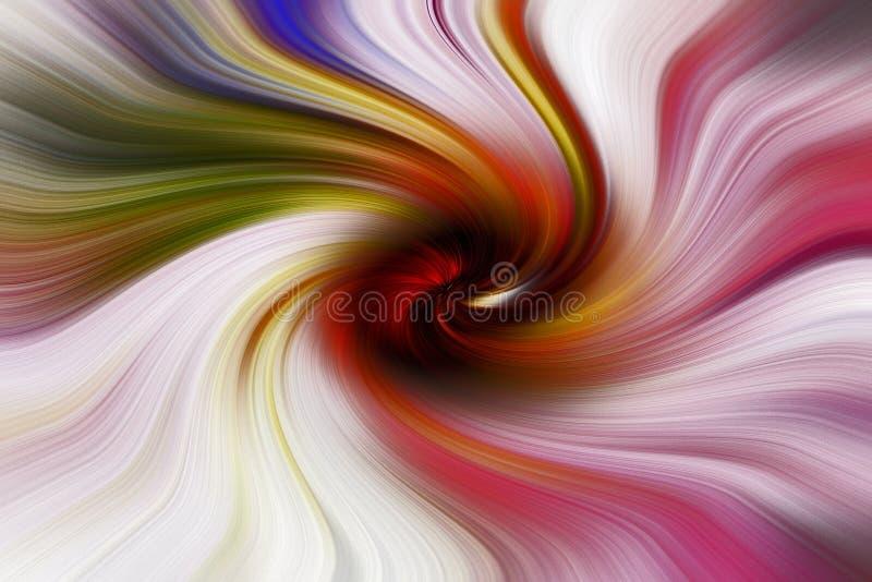 Virvlande runt färger i en cirkel royaltyfri illustrationer