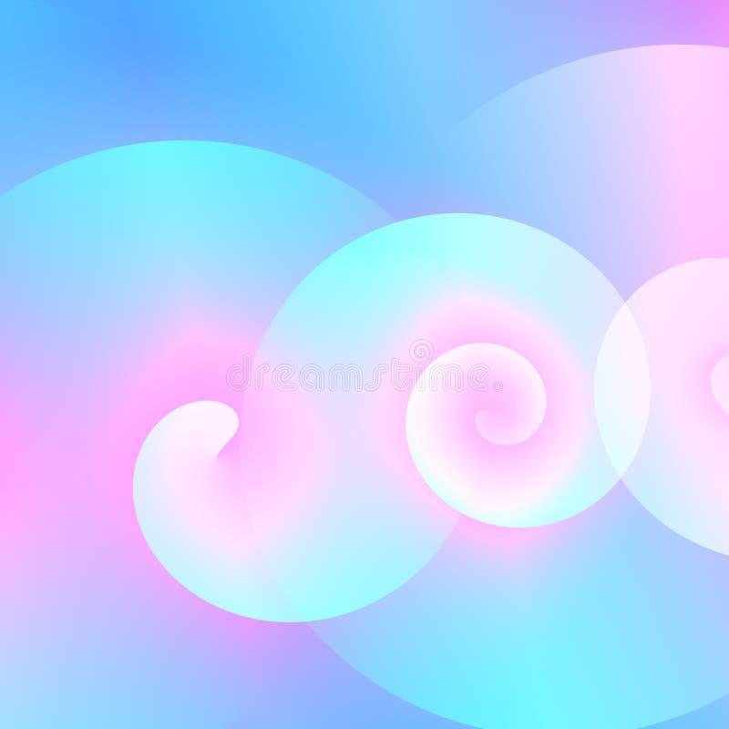 Virvlar bakgrundsillustrationaffären runt Ljus tom bild Dator frambragda former Utsmyckad garneringbild abstrakt wave royaltyfri illustrationer