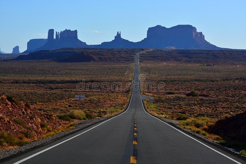 Visão cêntrica do Vale Monumento em Utah, Estados Unidos fotos de stock royalty free