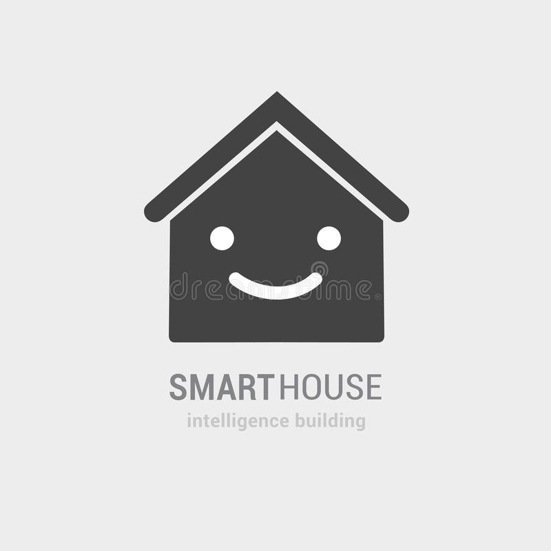 Visão conceptual do ícone esperto do vetor da casa Consulta da construção da inteligência e serviços controlados Mão isolada tira ilustração do vetor