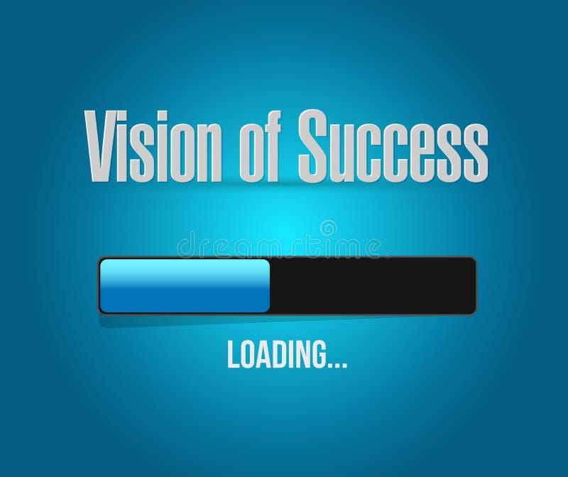 visão do conceito do sinal da barra de carga do sucesso ilustração stock