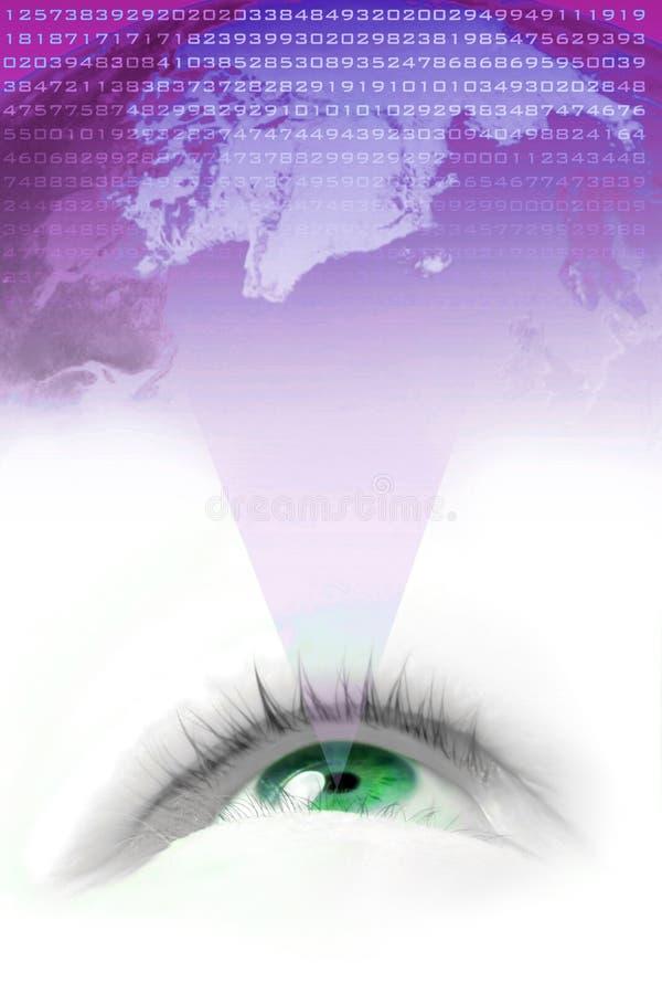 Visão do mundo ilustração do vetor