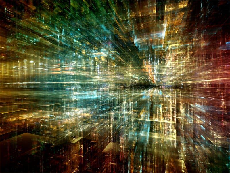 Visão do mundo virtual foto de stock