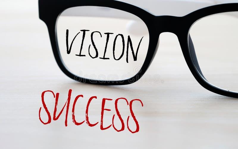 Visão e sucesso, conceito do negócio imagens de stock royalty free