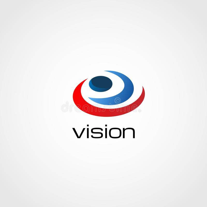 Visão espiral colorida Logo Sign Symbol Icon do olho do sumário foto de stock