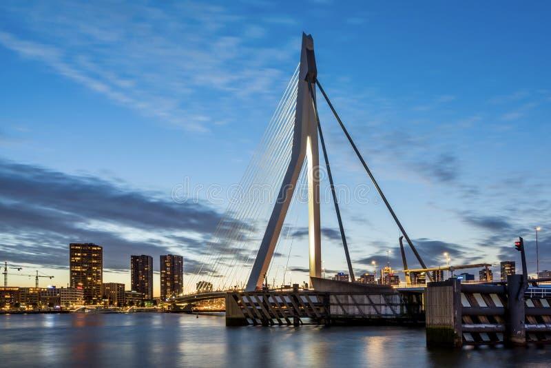 Visão geral da ponte Erasmus fotos de stock