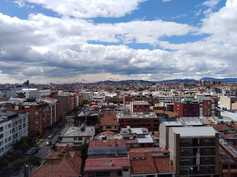 Visão panorâmica de Bogota, Colômbia foto de stock