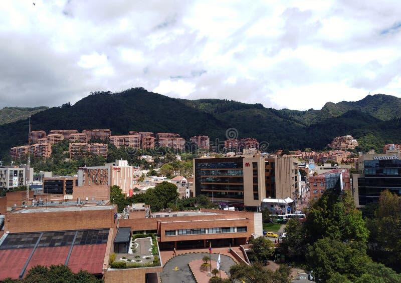 Visão panorâmica de Bogota, Colômbia fotografia de stock royalty free