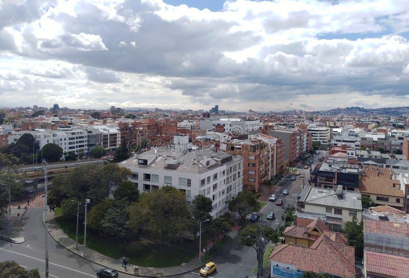 Visão panorâmica de Bogota, Colômbia foto de stock royalty free