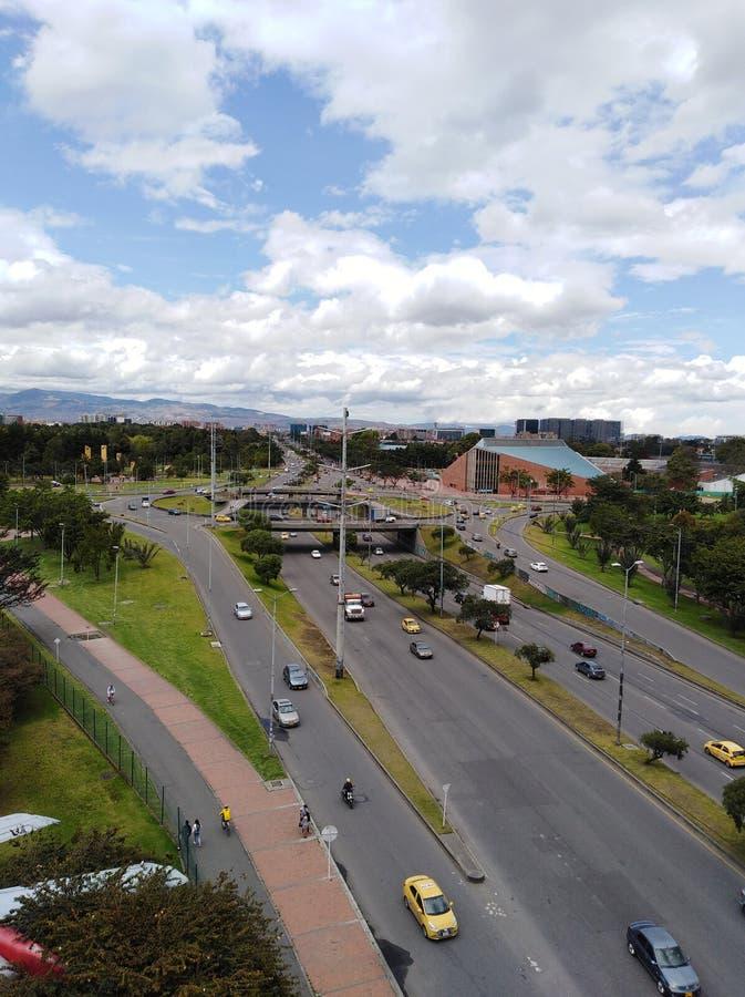 Visão panorâmica de Bogota, Colômbia imagem de stock royalty free