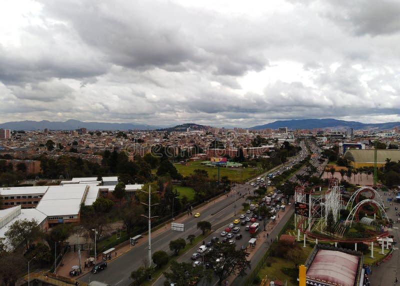 Visão panorâmica de Bogota, Colômbia fotografia de stock