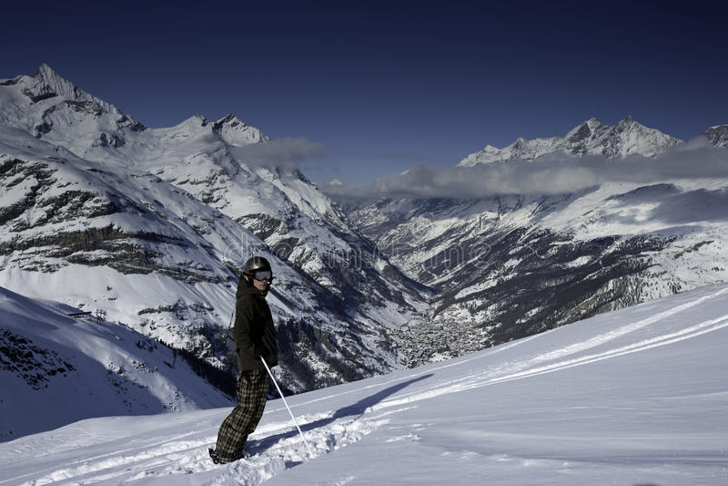 Visão Zermatt fotografia de stock royalty free