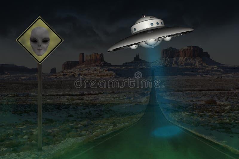 Visée surréaliste d'UFO d'étranger du secteur 51 photo stock