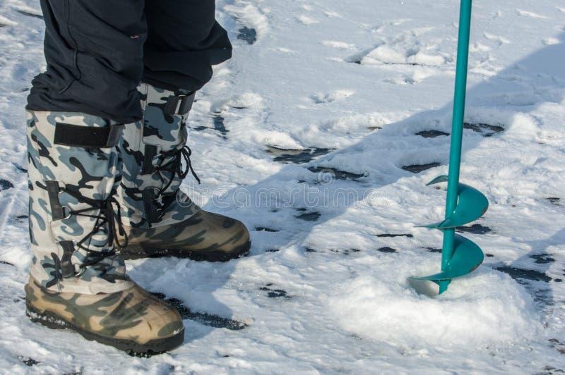 vis de glace pour la pêche photographie stock libre de droits