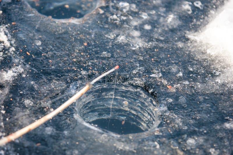 vis de glace pour la pêche photos stock