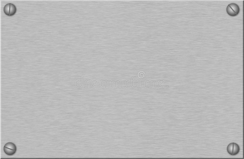 vis de plaque métallique balayées images stock