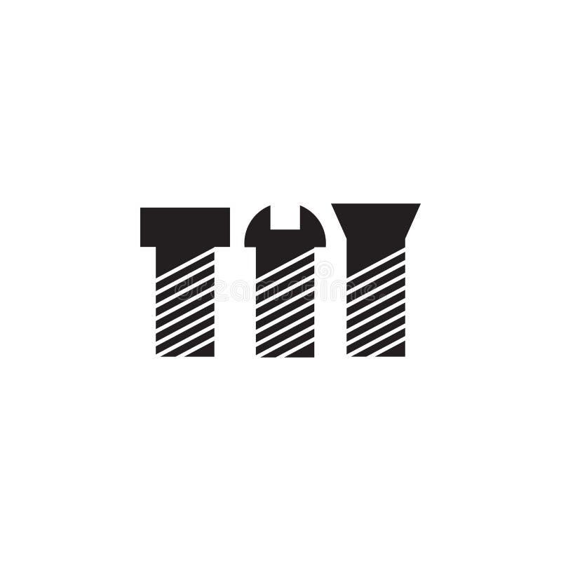 Vis, icône de boulons Les éléments de la construction usine l'icône Conception graphique de qualité de la meilleure qualité Signe illustration de vecteur