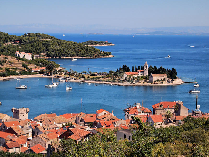 Vis port-Croatia royalty free stock photo