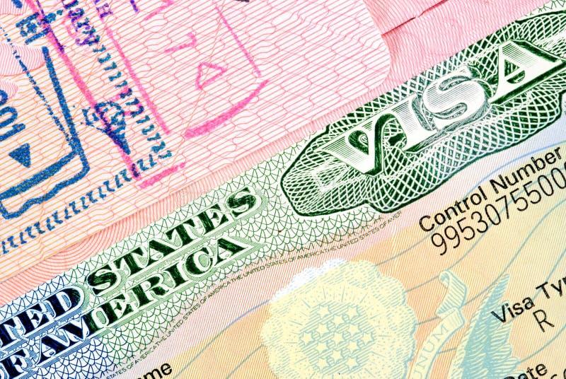 Visa Américain Photos libres de droits