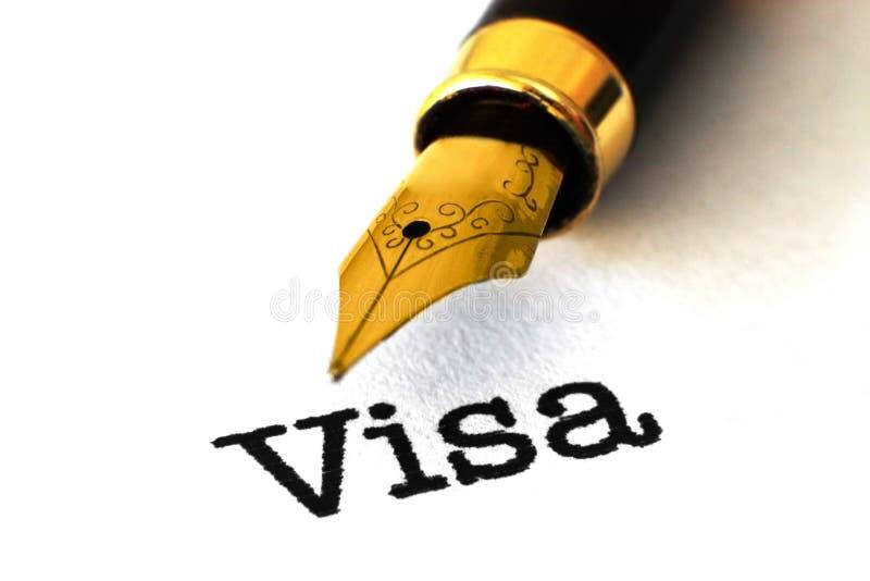 VIsa concept. Close up of VIsa concept royalty free stock photos