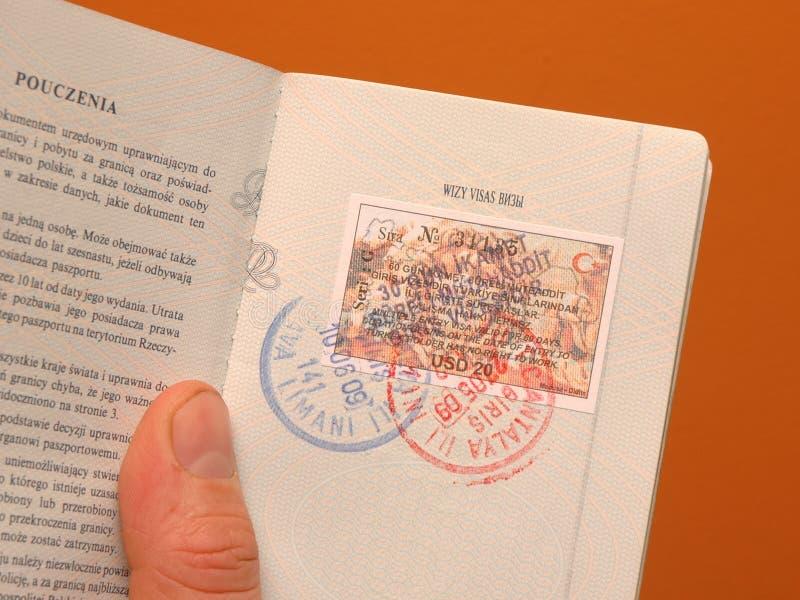Visa dans le passeport image stock