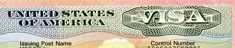 Visa de Estados Unidos fotos de archivo libres de regalías
